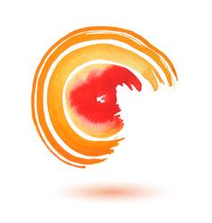 swirl watercolor vector image