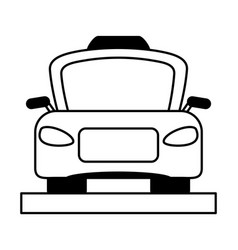 taxi frontview icon image vector image