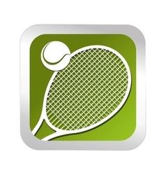 Tennis sport emblem icon vector