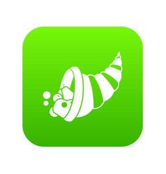 thanksgiving cornucopia icon digital green vector image
