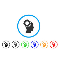 thinking gear rounded icon vector image