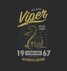 Viper snake serpent cobra and python anaconda or vector