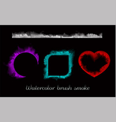 Watercolor brush smoke vector