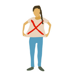 woman protest icon cartoon style vector image