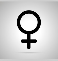 women gender simple black venus icon vector image