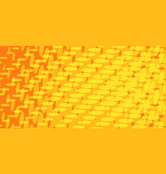 yellow red halftone background vector image