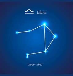 Zodiac constellation libra scales vector