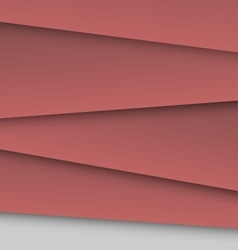 Dark red overlap layer paper material design vector image vector image