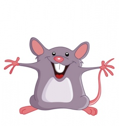 happy mouse vector image vector image