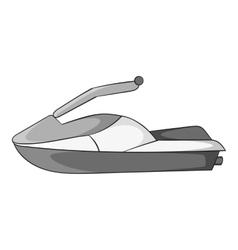 Jet ski icon gray monochrome style vector image