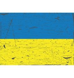 Ukraine flag grunge vector image