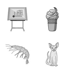 building food and other monochrome icon in vector image vector image