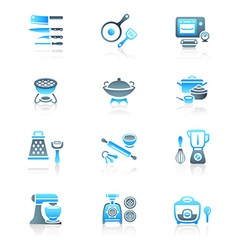 Cooking set - MARINE series vector image vector image