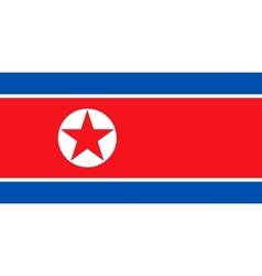 Flag of North Korea in correct size and colors vector image