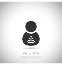 Man with wifi symbol insite body vector image vector image