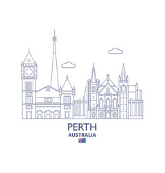 perth city skyline vector image