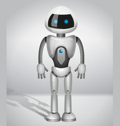robot with screen indicator vector image vector image