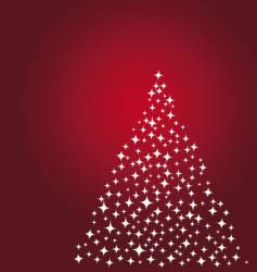 stars Christmas tree vector image vector image