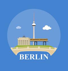 abstract skyline of city berlin vector image