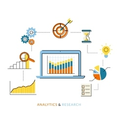 Analytics process vector image vector image