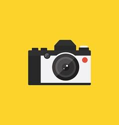 Camera retro vintage style flat design vector image