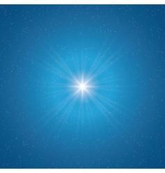 shining star vector image