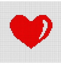 Sign pixel heart in grid 706 vector image