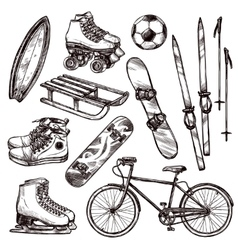 Sport Equipment Set vector image
