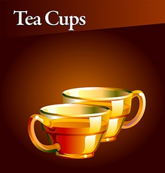 tea cups vector image vector image