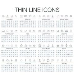thin line black and white vector image