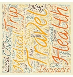 Why Traveler s Medical Insurance Is An Important vector image