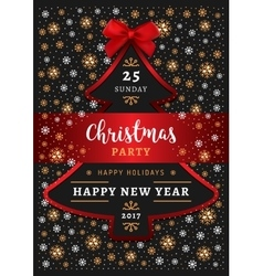 Christmas party Happy New Year Poster Christmas vector image vector image