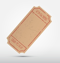 Empty Ticket Isolated on Grey Background vector image