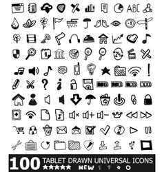 Hand-drawn web icon set vector image