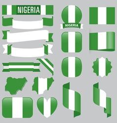 Nigeria flags vector image