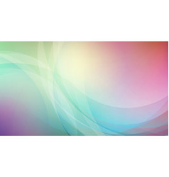 abstract curved on blurred colors background vector image