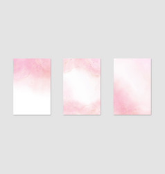 Abstract rose pink liquid watercolor background vector