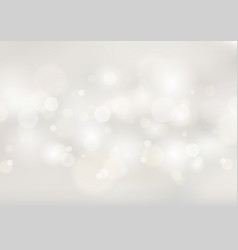 Abstract soft white blurred background with bokeh vector