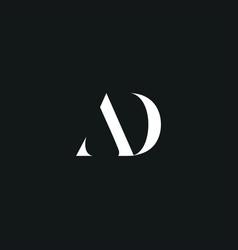Ad initial logo design logo letter logo vector