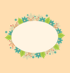 art of frame with flower spring vector image