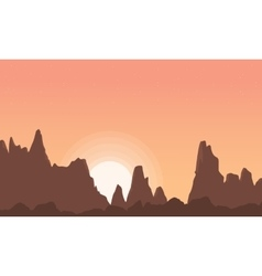 At sunrise cliff scenery art vector image