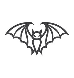 bat line icon halloween and scary animal sign vector image