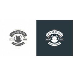 Bear head logo emblem vector