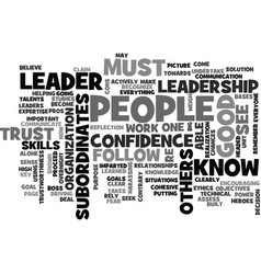 Become a leader text word cloud concept vector
