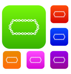 bicycle chain set collection vector image
