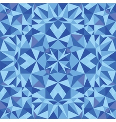 Blue triangle texture seamless pattern background vector image