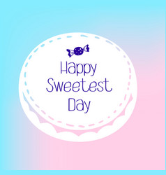 Bonbon sweetest day logo simple style vector