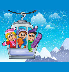 Cable car theme image 2 vector