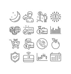 Calendar income money and salary icons vector