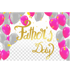 calligraphy happy fathers day calligraphy vector image